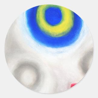 Geometric Trinity Geometric expressionism Round Sticker