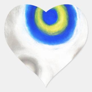 Geometric Trinity Geometric expressionism Heart Stickers