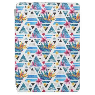 Geometric Tropical Flowers Pattern iPad Air Cover