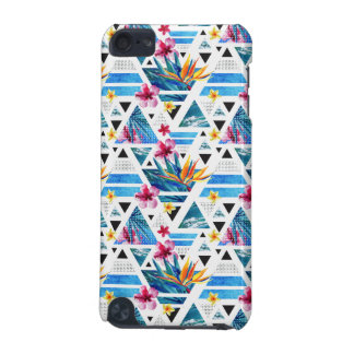 Geometric Tropical Flowers Pattern iPod Touch (5th Generation) Case