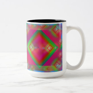 Geometric Two-Tone Coffee Mug