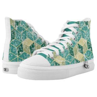 geometric washed shoes