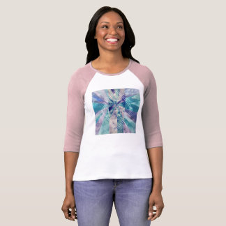 Geometric water paint with inspirational quote T-Shirt