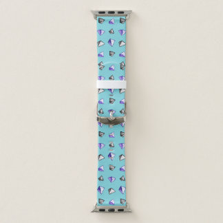 Geometric Watercolor Pyramid Pattern Geek Apple Watch Band