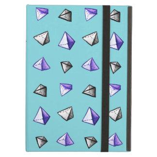 Geometric Watercolor Pyramid Pattern Geek Case For iPad Air
