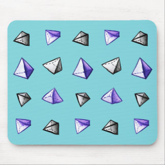 Geometric Watercolor Pyramid Pattern Geek Mouse Pad
