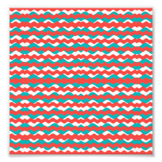 Geometric Waves Pattern Photo Print