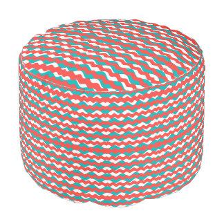 Geometric Waves Pattern Pouf