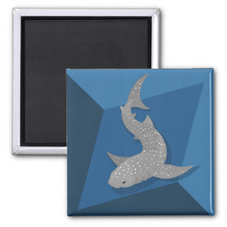 Geometric Whale Shark Vector Art Magnet