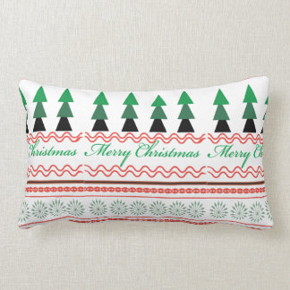 Geometric Whimsical Christmas Geometric patterns Lumbar Cushion