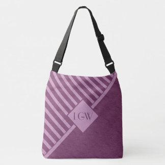 Geometric Wine Pink Monogram Crossbody Bag
