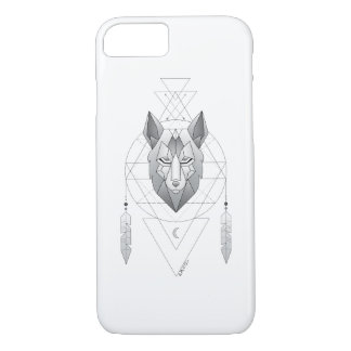 Geometric Wolf Dream Catcher CASE