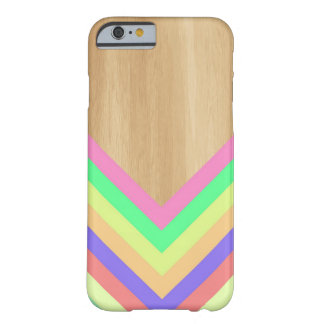 Geometric wood and color iPhone 6 case