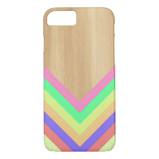 Geometric wood and color iPhone 7 case