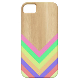 Geometric wood and color iPhone case