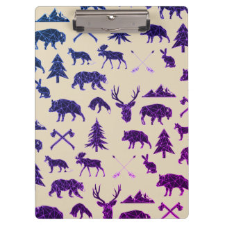 Geometric Woodland Animals | Animal Clip Board Clipboards