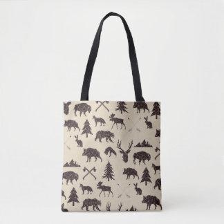 Geometric Woodland Animals | Animal Tote Bag