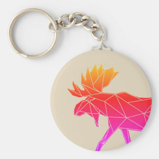 Geometric Woodland Animals | Neon Moose Keychain