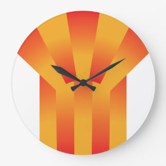 Geometric Yellow and Red Wall Clock