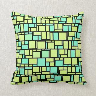 Geometric Yellow Green Shingles Cushion