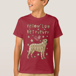Geometric Yellow Lab Retriever T-Shirt