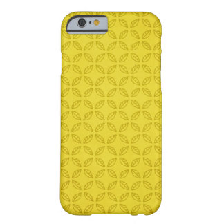 Geometric Yummy Green Leaves Pattern Barely There iPhone 6 Case