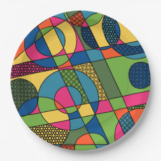Geometrical Abstract in 2017 Spring Color Palette Paper Plate