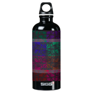 Geometrical Abstract In Multi Colors Water Bottle