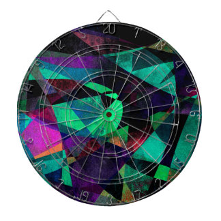 Geometrical, Colorful, Grungy Abstract Art Dart Boards