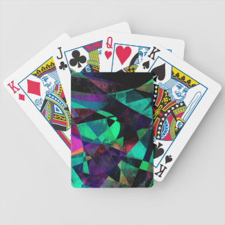 Geometrical, Colorful, Grungy Abstract Art Poker Deck