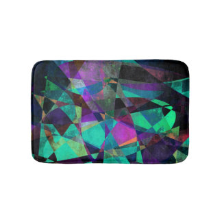 Geometrical, Colorful, Original Abstract Art Bath Mat
