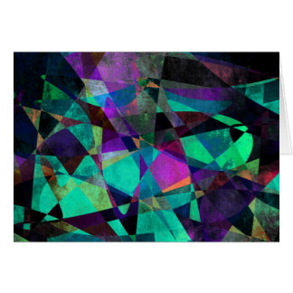 Geometrical, Colorful, Original Abstract Art Card