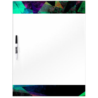 Geometrical, Colorful, Textured Abstract Art Dry Erase Whiteboard