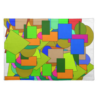 geometrical figures placemat