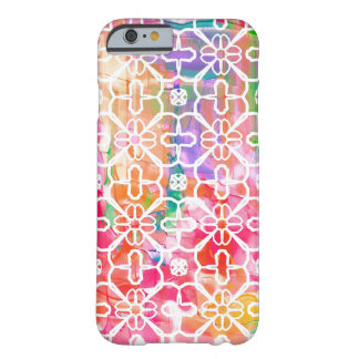 Geometrical Flowers iPhone Barely There Cell Case