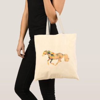 Geometrical horse cantering shopper tote bag