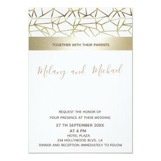 Geometrical luxury gold black/white card