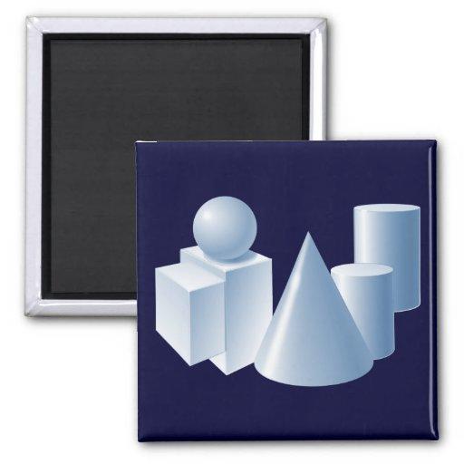 geometrical objects geometric items fridge magnets