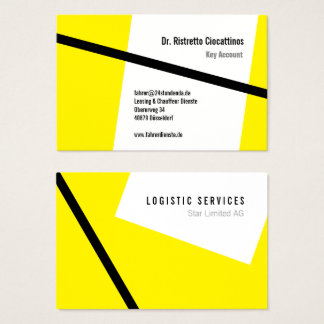 Geometrically, black and yellow business card