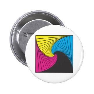Geometrics 1 CmyK Pinback Buttons