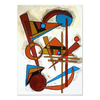 Geometrics - Abstract Art 11 Cm X 16 Cm Invitation Card