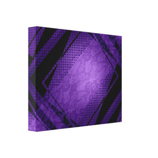 Geometrics Purple Frame Squares Canvas Print