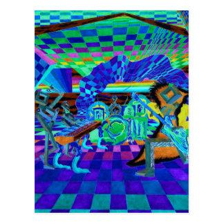 Geometrix Techies Band Music Party Invite Postcard