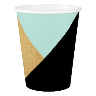 Geometry Black Gold Aqua Mint Tiffany Minimal