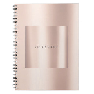 Geometry Blush Pink Rose Gold Powder Metallic Notebooks