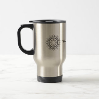 Geometry compass travel mug