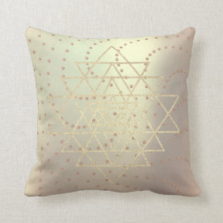 Geometry Crystals Swarovski Rose Gold Triangles Throw Pillow