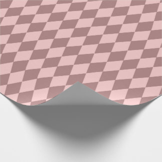 Geometry Diamond Cut  Blush Pink Rose Mauve Wrapping Paper