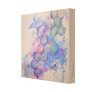 Geometry geometric pattern art watercolor water co gallery wrapped canvas