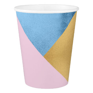 Geometry Gold Lilac Pink Pastel Blue Marine Metal
